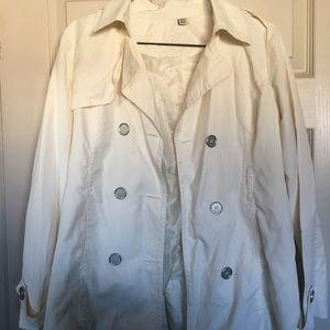 Silk-like Cream Coat